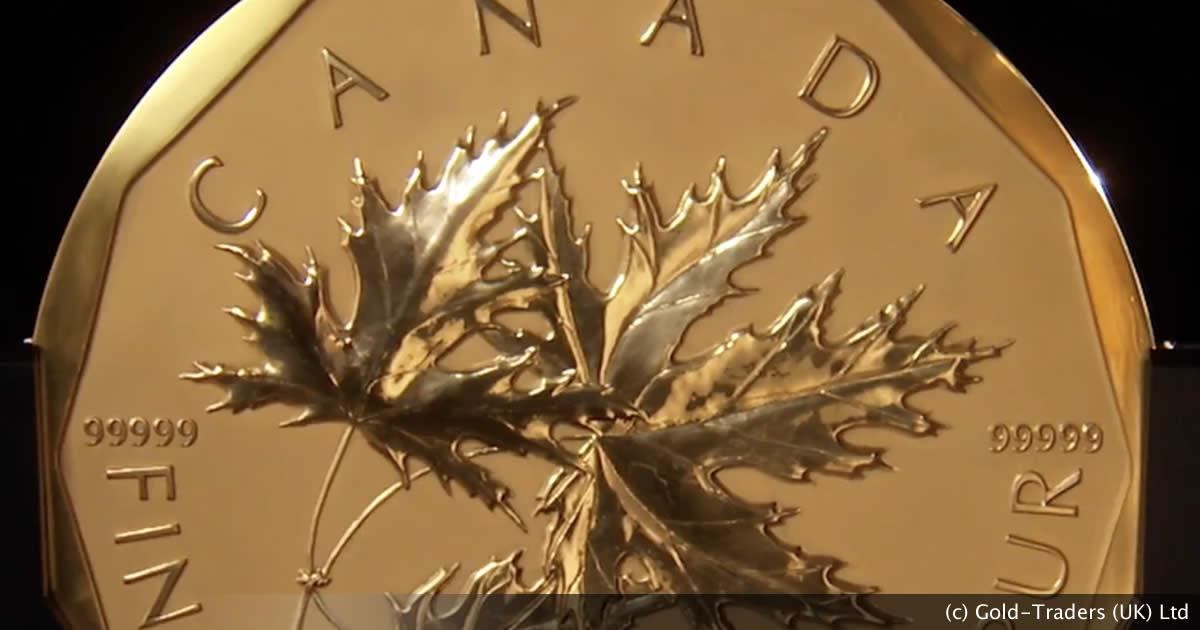 Million dollar gold Maple coin