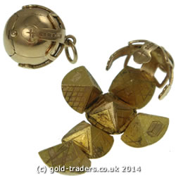 Masonic ball fobs in 9ct gold