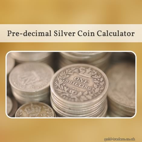 Pre-decimal silver coin valuation calculator
