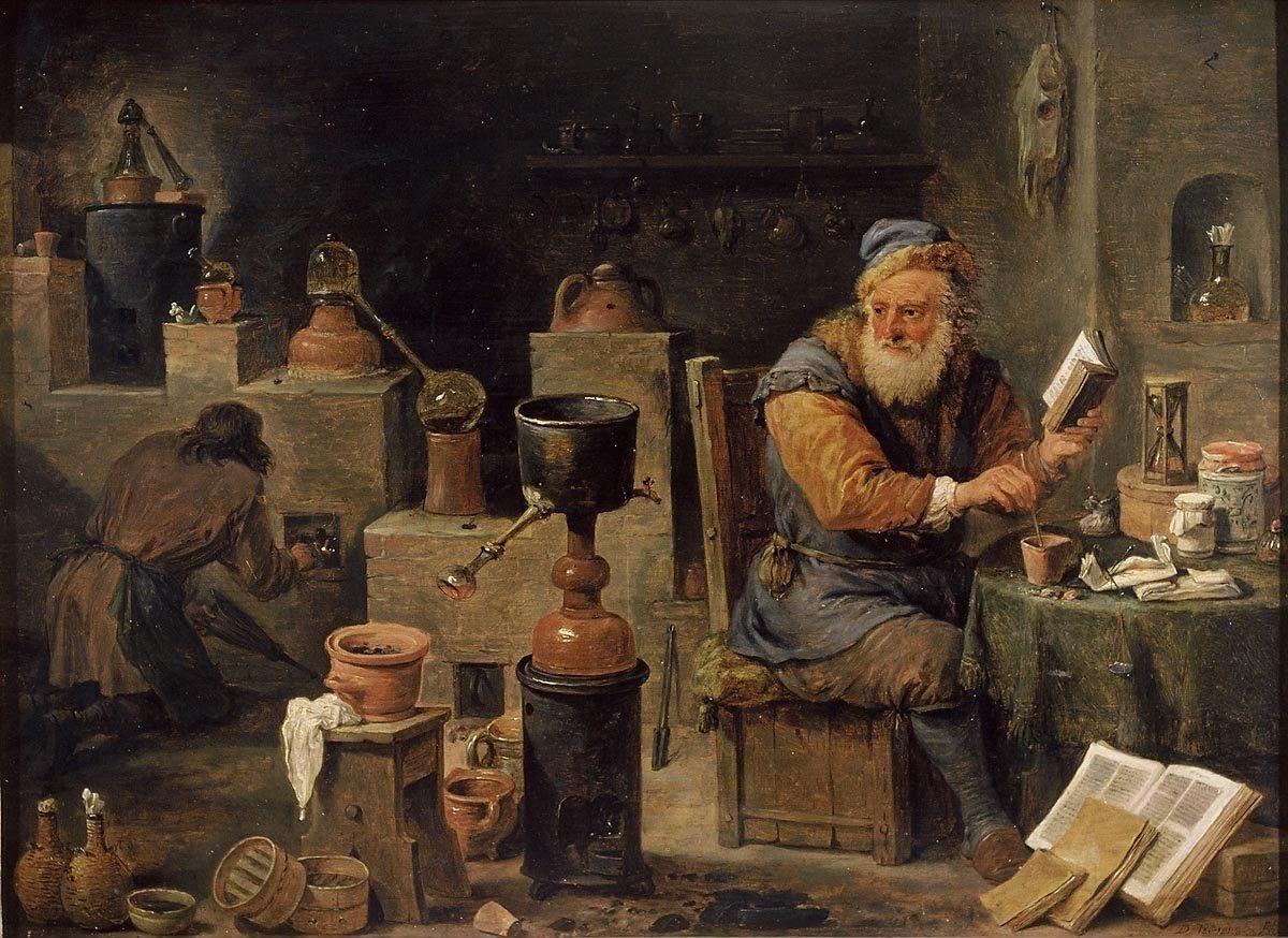 David Teniers the younger (1610 – 1690). L'alchimiste.