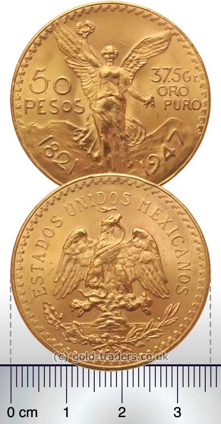 Mexican 50 Pesos Gold Coin