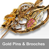 Gold Pins & Brooches